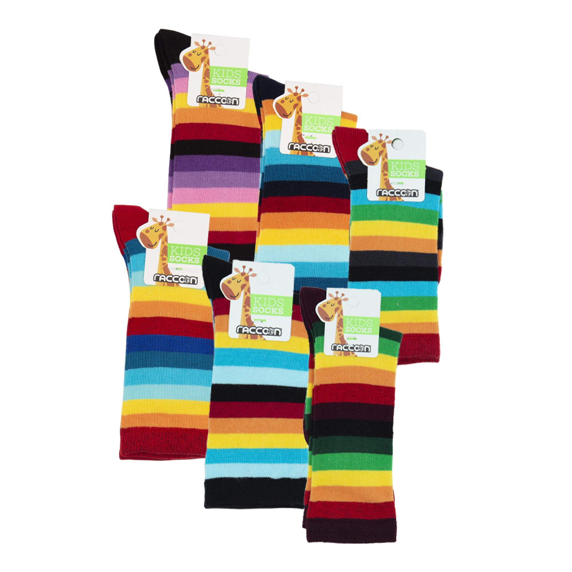 جوراب دخترانه راکون مدل 102617 مجموعه 6 عددی