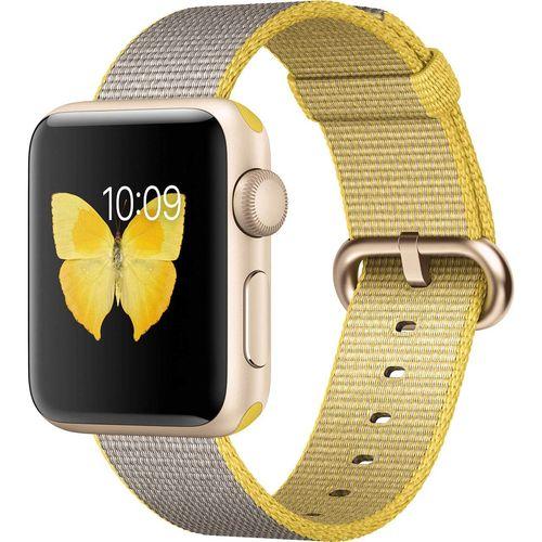 ساعت هوشمند اپل واچ سری 2 مدل 38mm Gold Aluminum with Yellow Gray Nylon Band