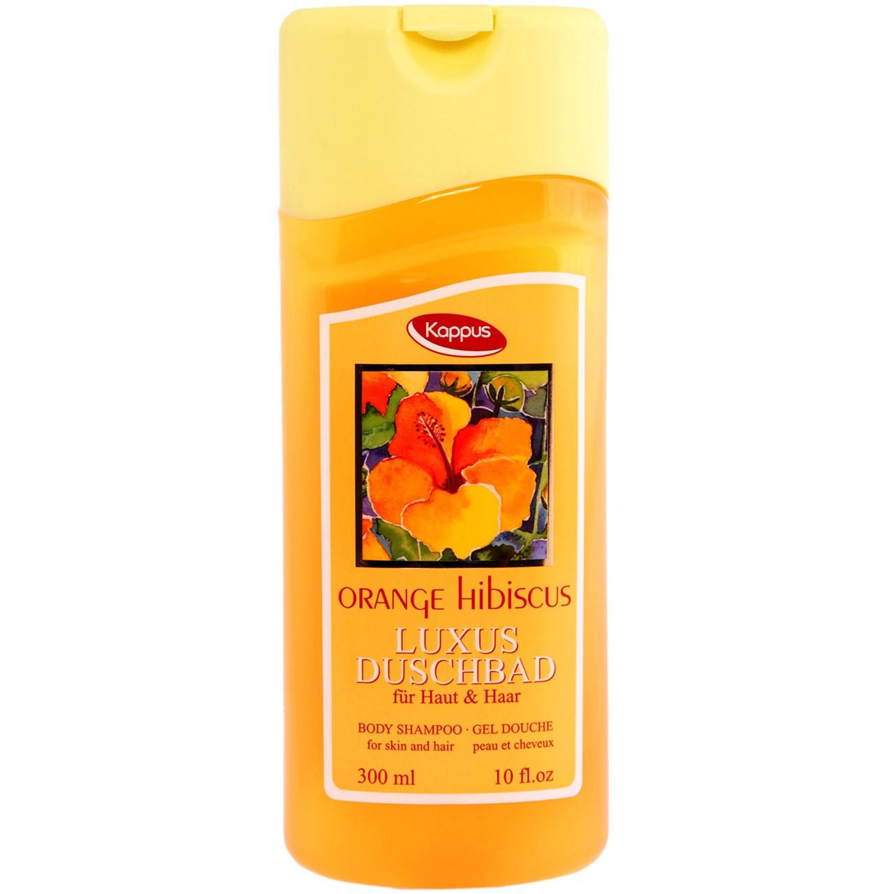 خرید                      شامپو سر و بدن کاپوس مدل Orange Hibiscus حجم 300 میلی لیتر