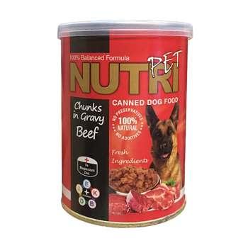کنسرو غذای سگ نوتری پت مدل Beef in Gravy وزن 425 گرم