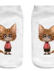 جوراب بچگانه طرح لبخند گربه کد 55 -  - 1