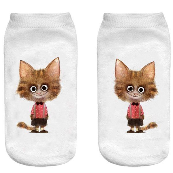 جوراب بچگانه طرح لبخند گربه کد 55 -  - 3