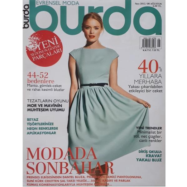 مجله burda آگوست 2012 به همراه الگو