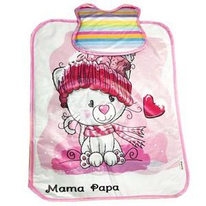زیرانداز تعویض نوزاد ماما پاپا طرح پیشی سرمایی کد 237