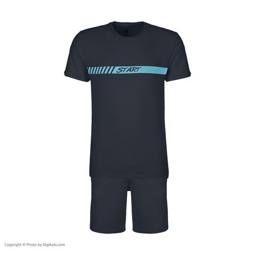 ست تی شرت و شلوارک ورزشی مردانه استارت مدل 2111125-59