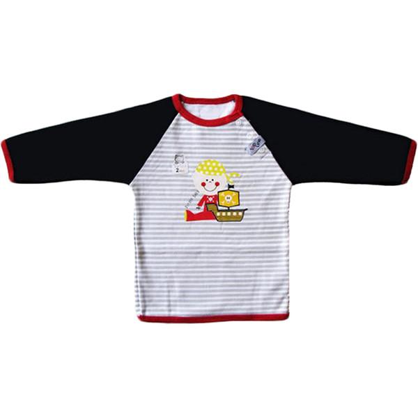 تی شرت آستین بلند نوزادی تاپ لاین طرح دزد دریایی