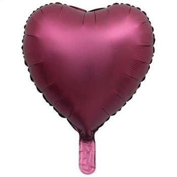 بادکنک فویلی طرح قلب مدل Chorme کد 3356