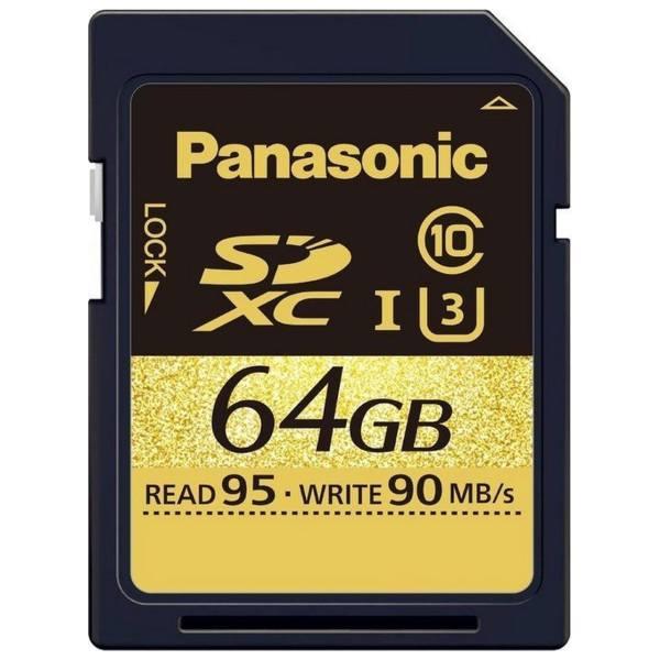 کارت حافظه SDXC پاناسونیک مدل RP-SDUD64GAK کلاس 10 استاندارد UHS-I U3 سرعت 95MBps ظرفیت 64 گیگابایت