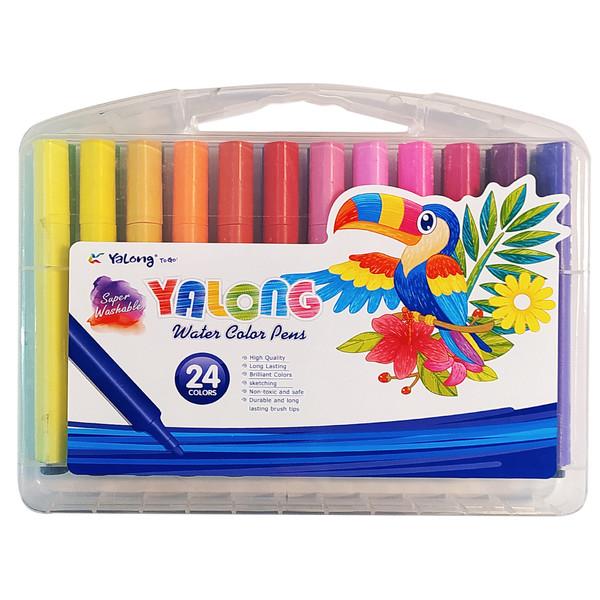 ماژیک آبرنگی 24 رنگ یالونگ کد YL875