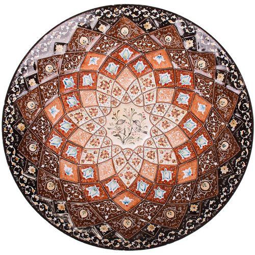 بشقاب مسی میناکاری شده اثر صالحی زاده طرح 1 قطر 30 سانتی متر
