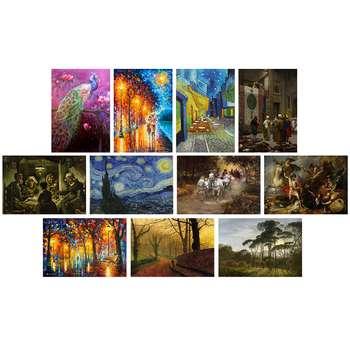 تابلو شاسی طرح معروف ترین نقاشی های جهانکد SET003 مجموعه 11 عددی
