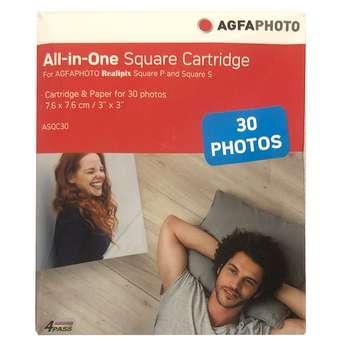 کاغذ چاپ عکس گلاسه آگفافوتو مدل Realipix Square S ASQC30 سایز 7.6x7.6 سانتی متر بسته 30 عددی