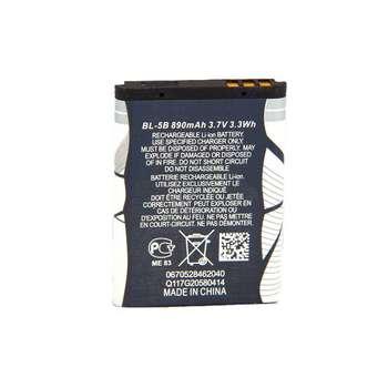 باتری موبایل مناسب برای نوکیا مدل BL-5B با ظرفیت 890 میلی آمپر ساعت