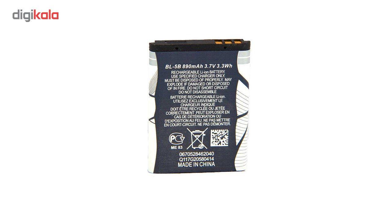 باتری موبایل مناسب برای نوکیا مدل BL-5B با ظرفیت 890 میلی آمپر ساعت main 1 1