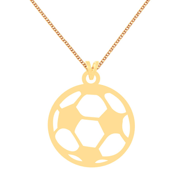 گردنبند طلا 18 عیار زنانه کرابو طرح توپ فوتبال مدل Kr70328