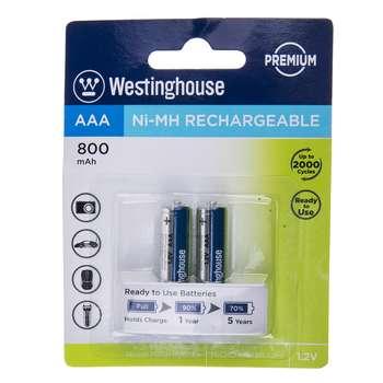 باتری قابلشارژ نیم قلمی وستینگ هاوس مدل Ni-MH Rechargeable بستهی 2 عددی