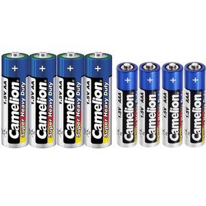 باتری قلمی و نیم قلمی کملیون مدل Super Heavy Duty بسته 8 عددی