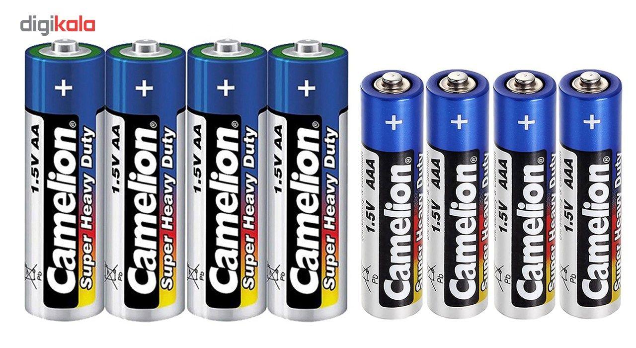 باتری قلمی و نیم قلمی کملیون مدل Super Heavy Duty بسته 8 عددی main 1 1