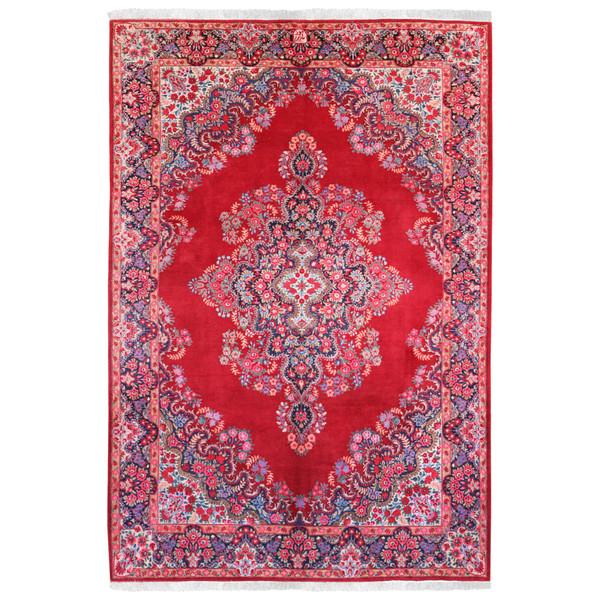 فرش قدیمی دستبافت شش و نیم متری طرح مود کد 990986
