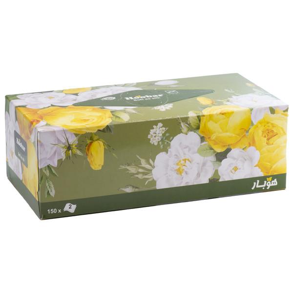 دستمال کاغذی150 برگ هوبار مدل گل