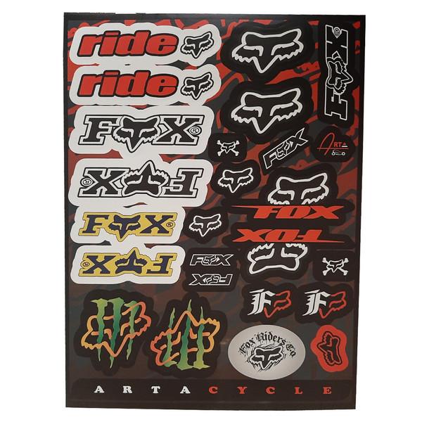 برچسب بدنه موتور سیکلت مدل FX_RID