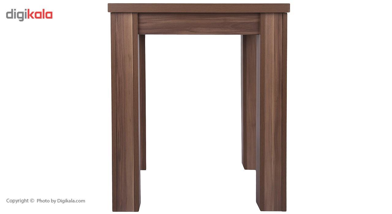 میز ناهار خوری DND مدل میگون- 65x 65 x 74  سانتی متر - قهوه ای روشن