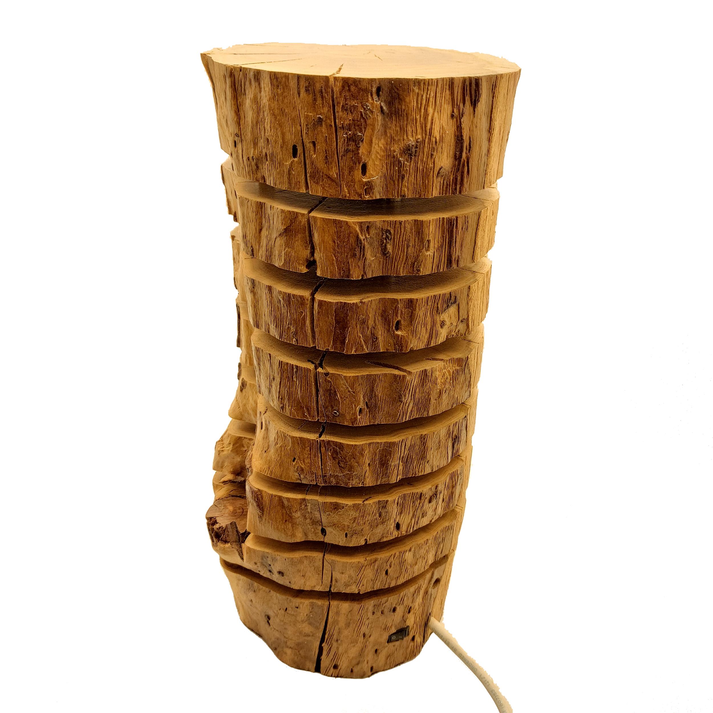 آباژور چوبی مدل تنه درخت