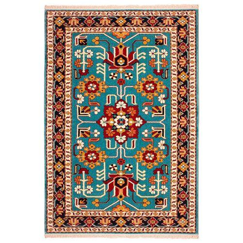 فرش ماشینی ساوین طرح مهربان کد FSM22 زمینه آبی