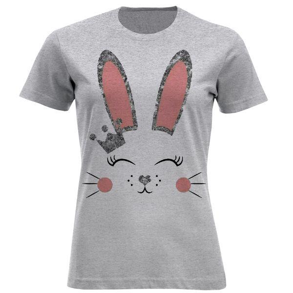 تی شرت آستین کوتاه زنانه مدل خرگوش F800