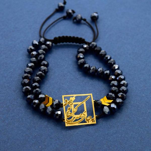 دستبند طلا 18 عیار زنانه کانیار گالری مدل B44