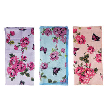 دستمال آشپزخانه هوم مدل Flower بسته 3 عددی