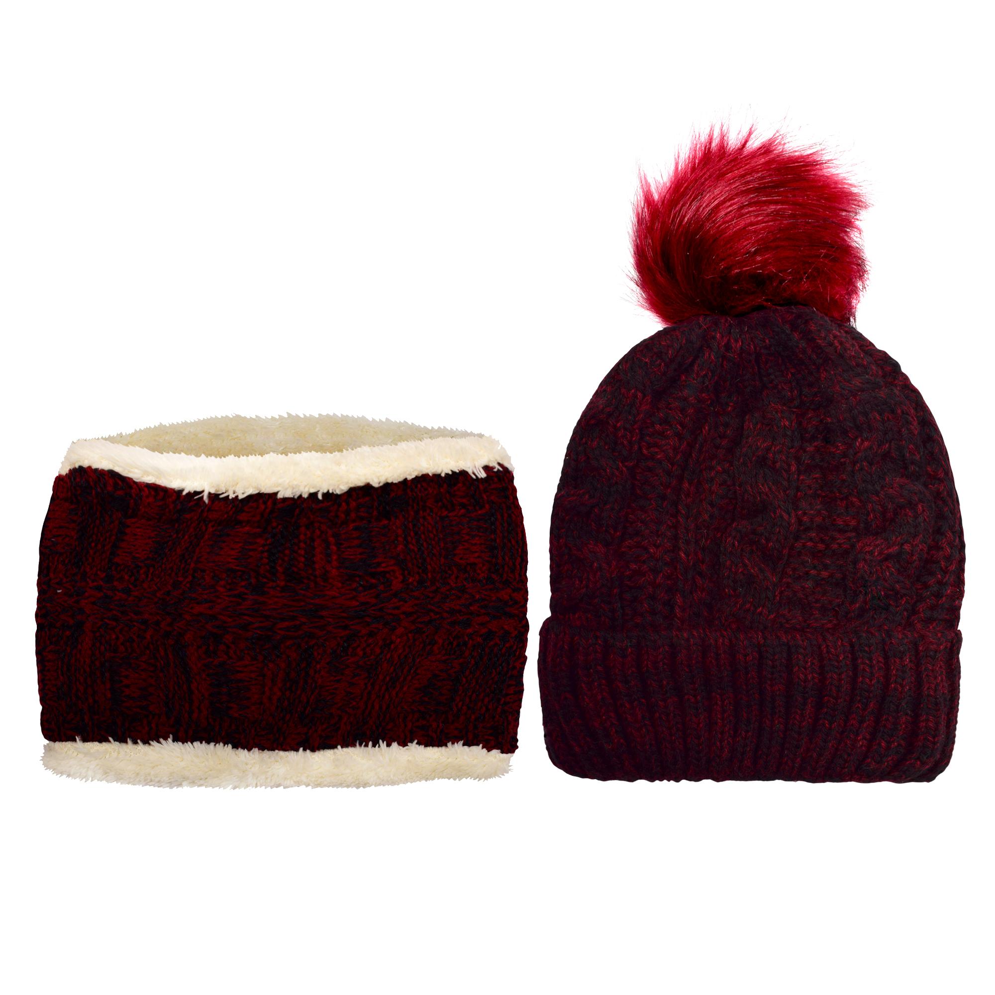 ست کلاه و شال گردن بافتنی بچگانه کد P0144-3