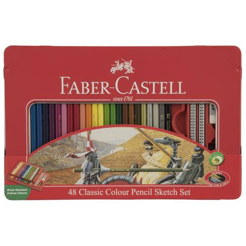 مداد رنگی 48 رنگ فابر-کاستل مدل Sketch