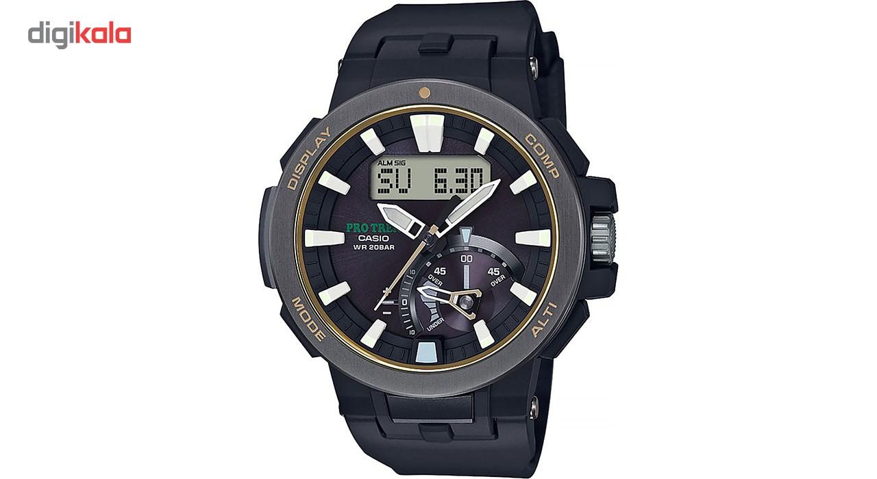 خرید ساعت مچی عقربه ای مردانه کاسیو پروترک مدل PRW-7000-1BDR | ساعت مچی
