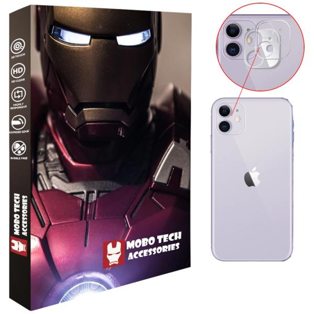 محافظ لنز دوربین موبو تک مدل LNZG-I11-2 مناسب برای گوشی موبایل اپل iPhone 11  بسته دو عددی