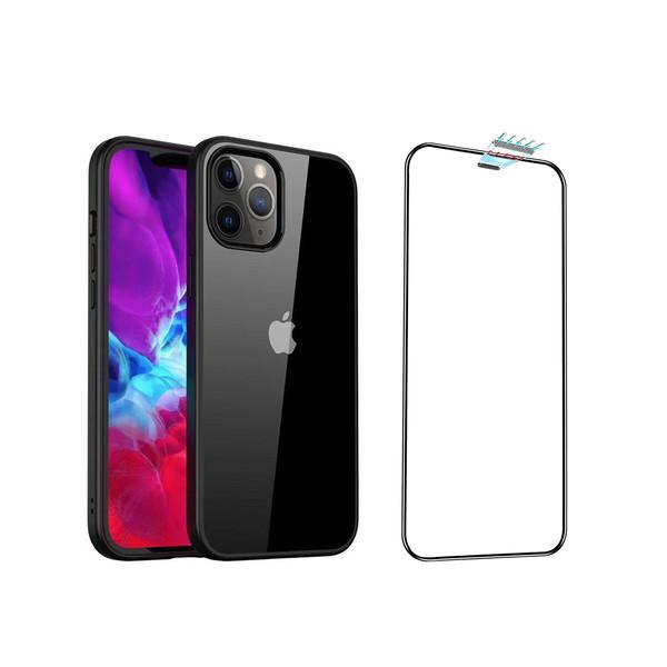 کاور لیکگاس مدل Borderline مناسب برای گوشی موبایل اپل iphone 12 pro max به همراه محافظ صفحه نمایش