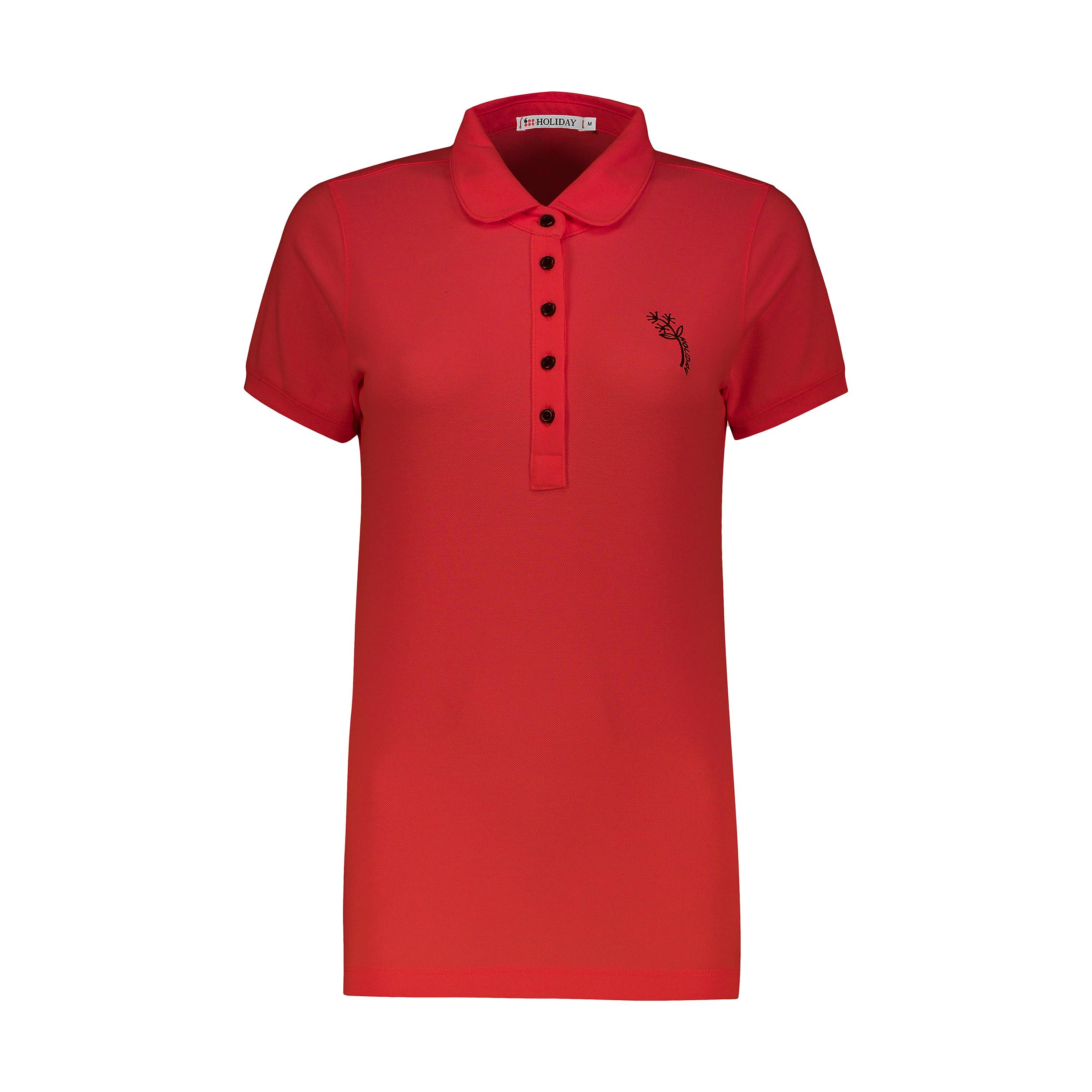 پولوشرت زنانه هالیدی مدل 858595-Red