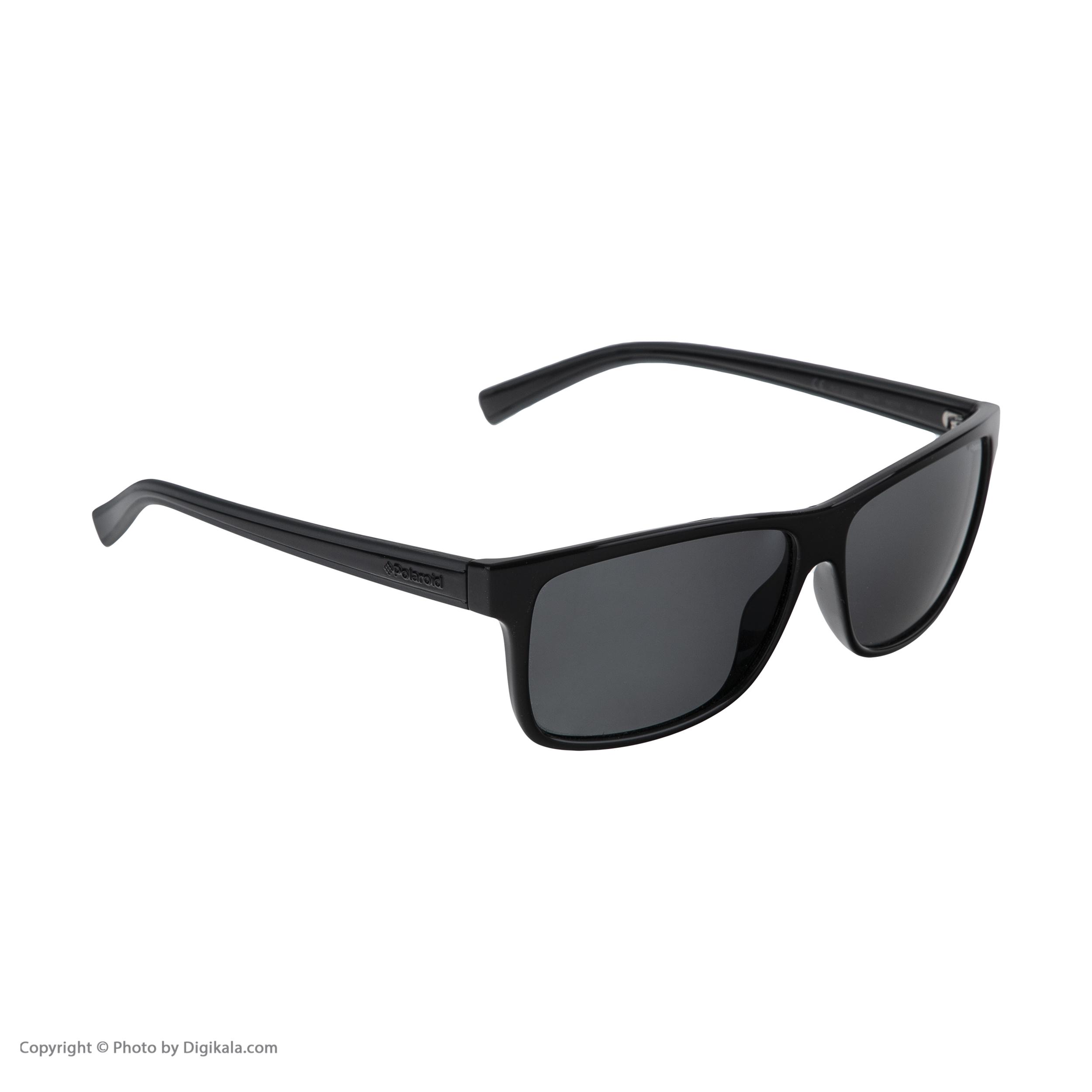 عینک آفتابی مردانه پولاروید مدل pld 2027-blackgrey-59