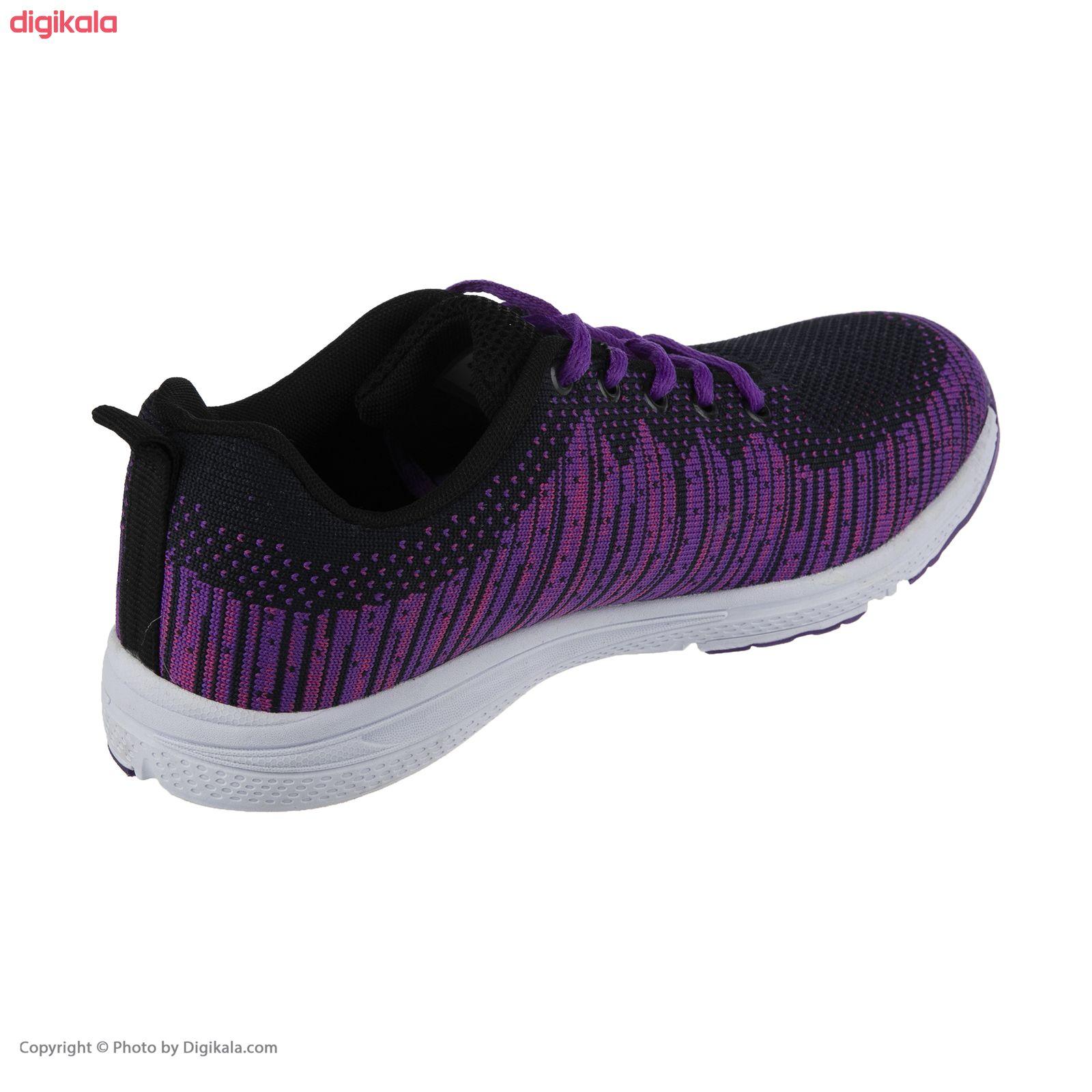 کفش مخصوص پیاده روی زنانه ملی مدل 83590572 رنگ بنفش main 1 5