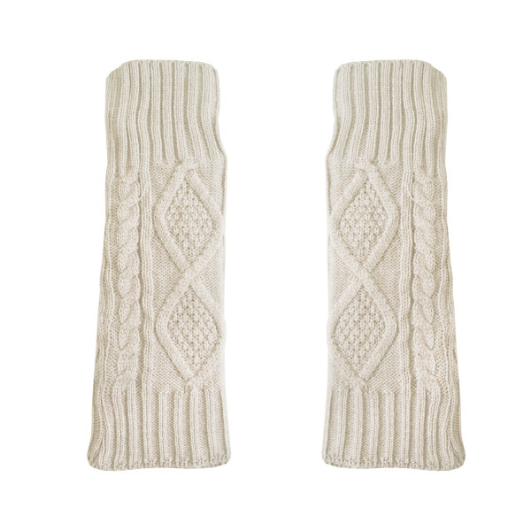 ساق دست بافتنی زنانه مدل LOZ کد 30761 رنگ شیری