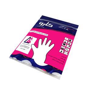 دستکش یکبار مصرف کارو مدل نایلونی بسته 100 عددی