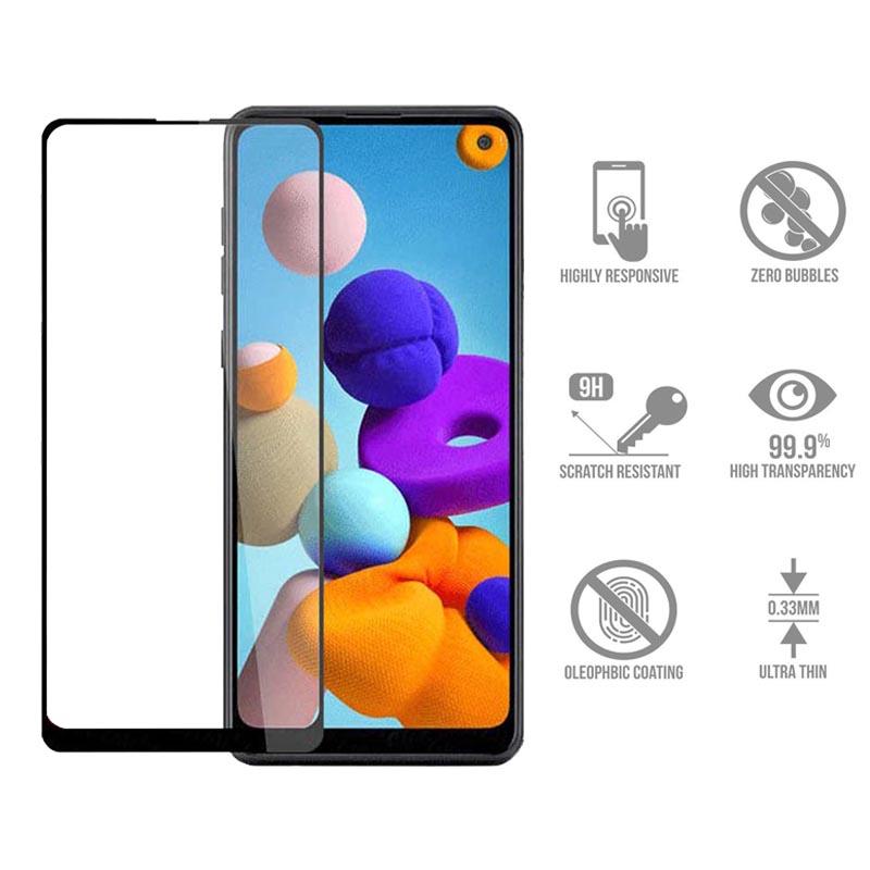 محافظ صفحه نمایش  یو سیو مدل js مناسب برای گوشی موبایل سامسونگ galaxy a21