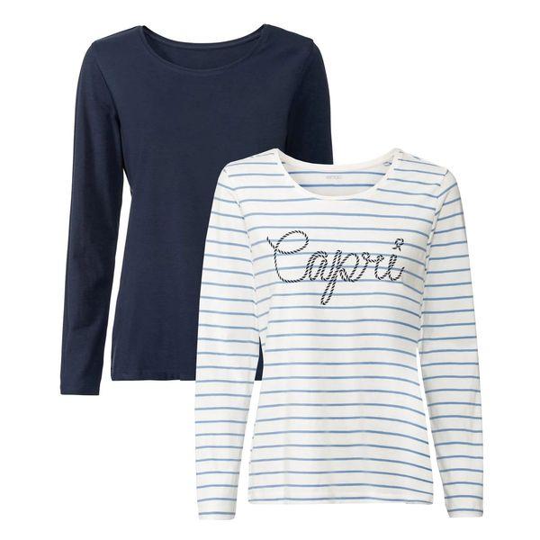 تی شرت آستین بلند زنانه اسمارا مدل Par1109 مجموعه 2 عددی