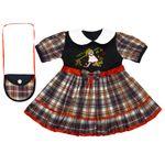 ست پیراهن و کیف دخترانه کد DC1