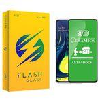 محافظ صفحه نمایش 9D فلش مدل +HD مناسب برای گوشی موبایل سامسونگ Galaxy A50 / A50s / A30