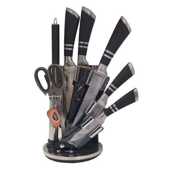 سرویس چاقو آشپزخانه 9 پارچه نوبل کد 006