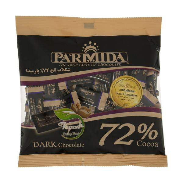 شکلات تلخ 72 درصد پارمیدا مقدار 220 گرم