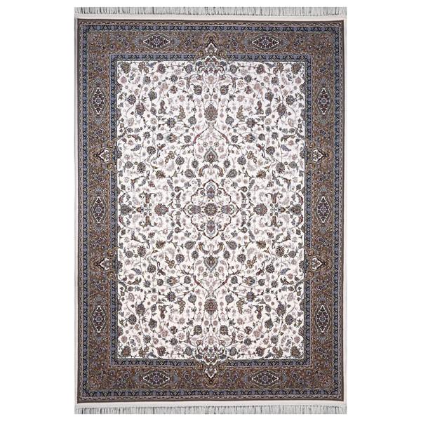 فرش ماشینی فرش هدیه طرح افشان زمینه کرم