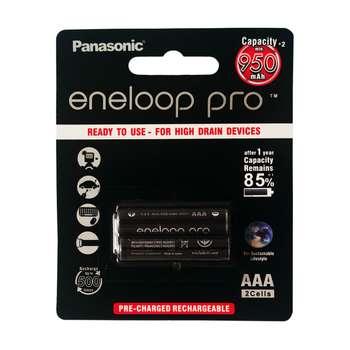 باتری نیم قلمی قابل شارژ پاناسونیک مدل eneloop pro-HR03 بسته دو عددی