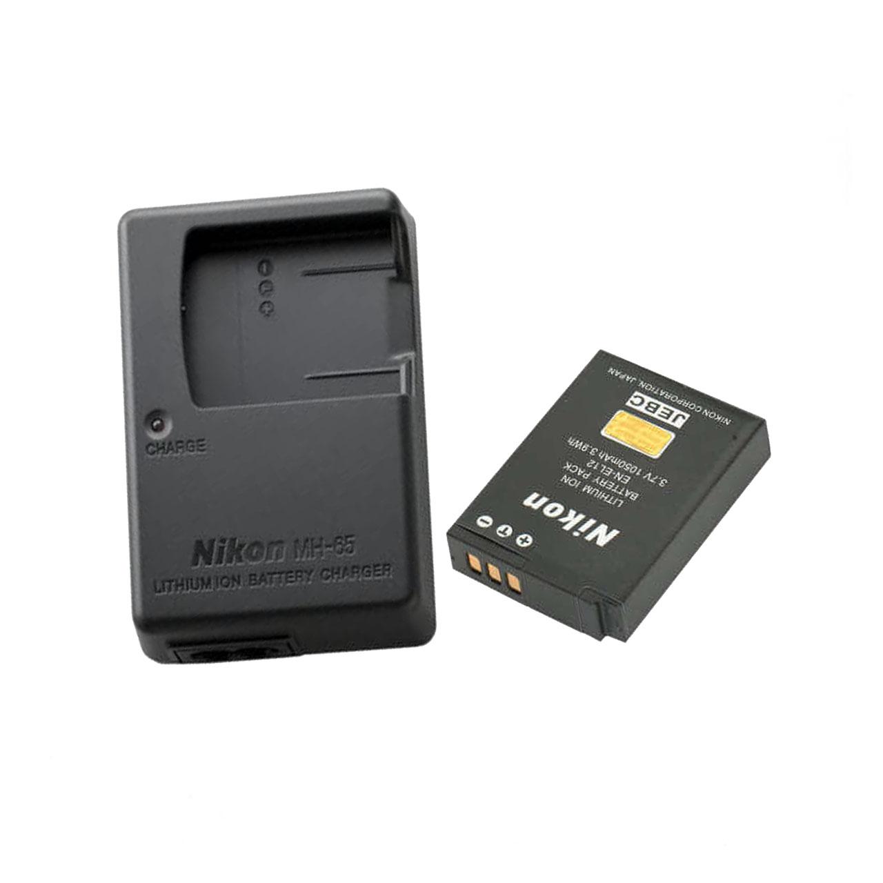 بررسی و {خرید با تخفیف} شارژر باتری دوربین مدل MH-65 به همراه باتری اصل